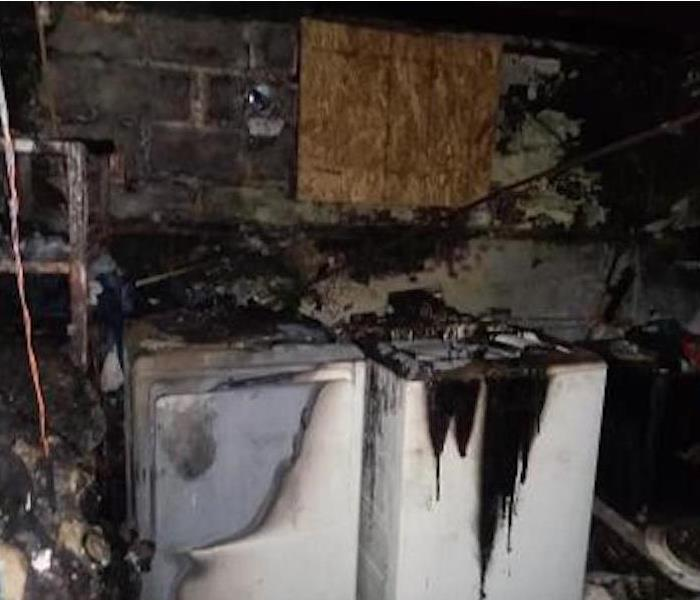 Washer and Dryer damaged by fire.