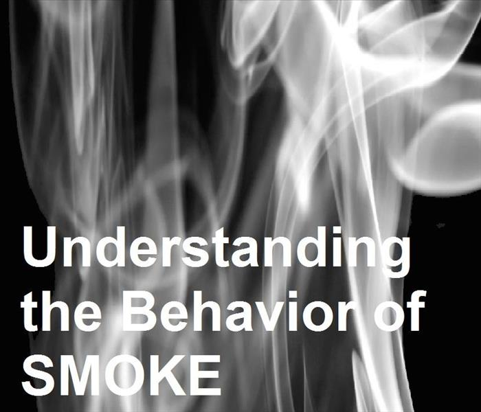 "White smoke fumes with words ""Understanding the Behavior of Smoke""."